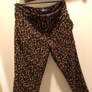 Cheetah Print Dress Pants